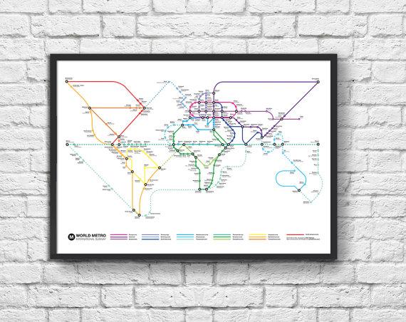 carte du monde métro